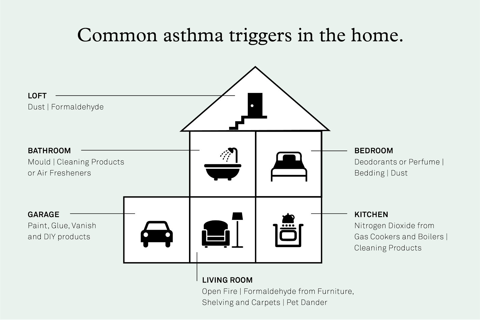 Common asthma triggers in the home