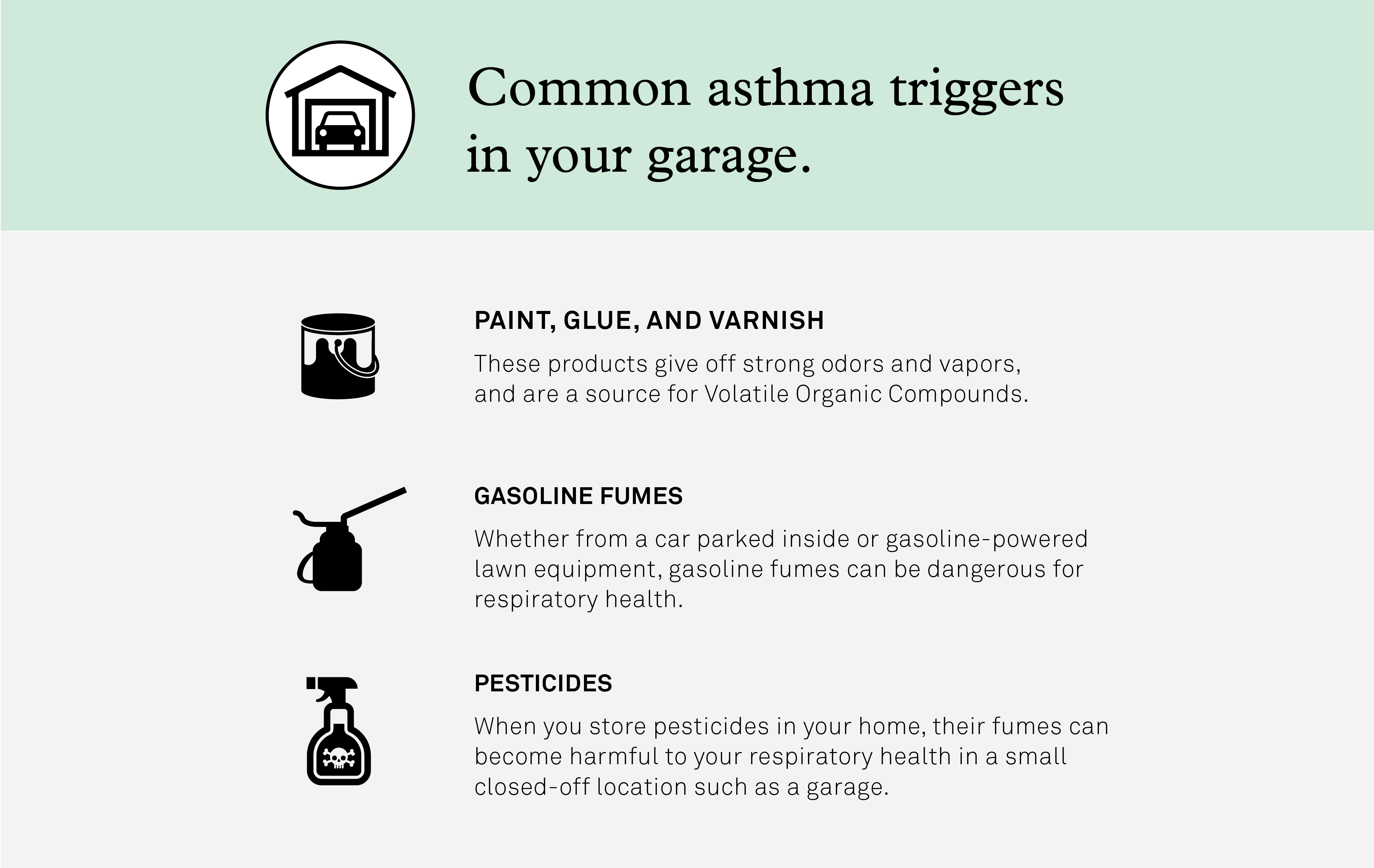 Asthma Triggers in Garage