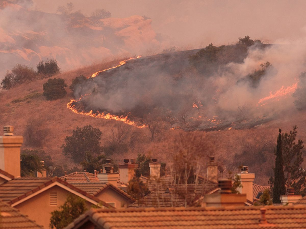 Wildfires near residences in Orange County