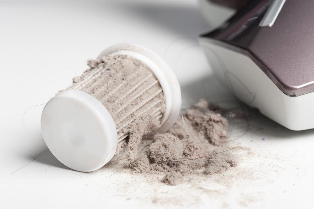 Dirty HEPA filter from vacuum