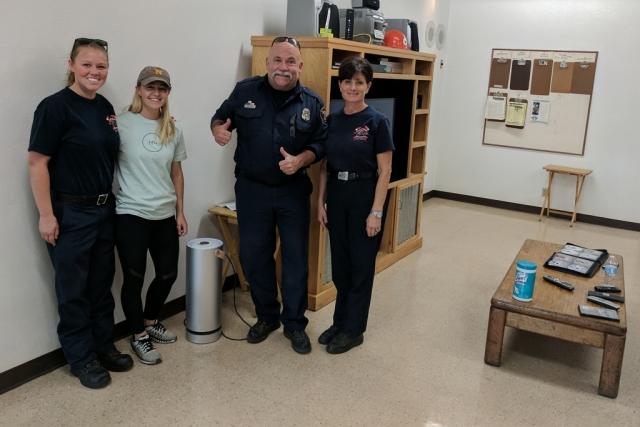 Sonoma wildfire Molekule donation