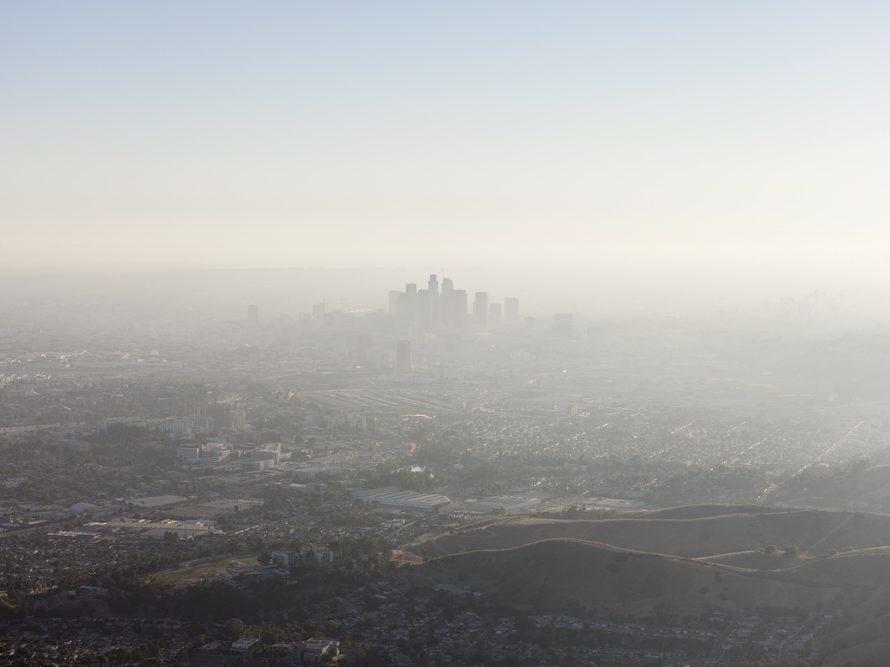 air pollution - smog- over LA skyline