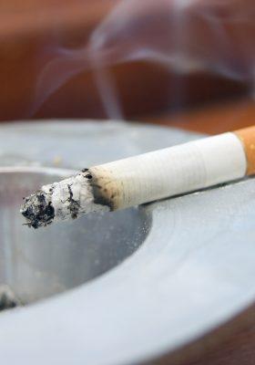 Cigarette Smoke Smell and Ashtray